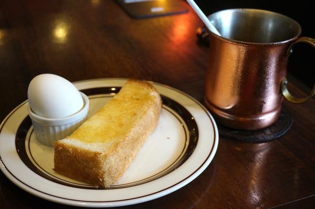 星乃珈琲 モーニング トースト ゆでたまご