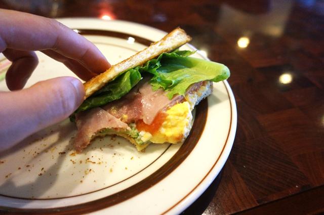 星乃 ハムと野菜と玉子のトーストサンド 美味しい