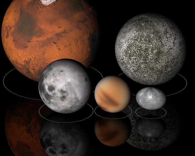 サイズの違う惑星