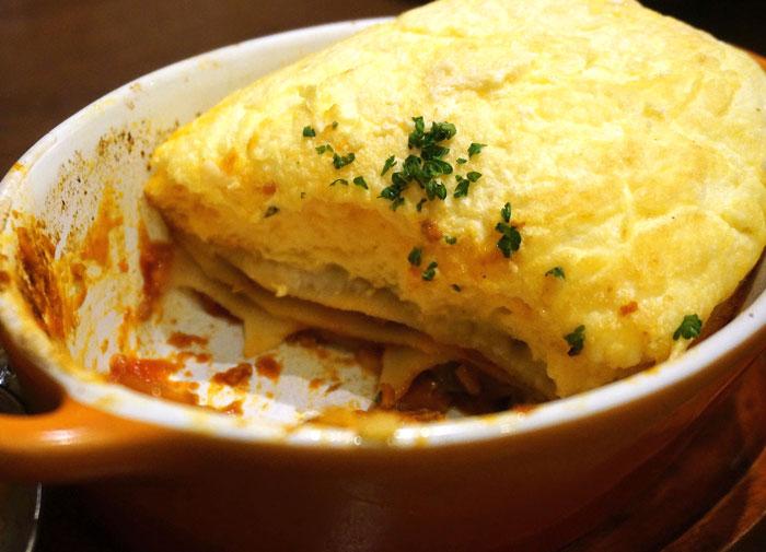 星乃珈琲スフレ館のスフレオムレツラザニア 料理