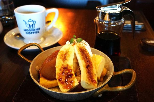 星乃珈琲のキャラメルりんごとバナナのフレンチトースト
