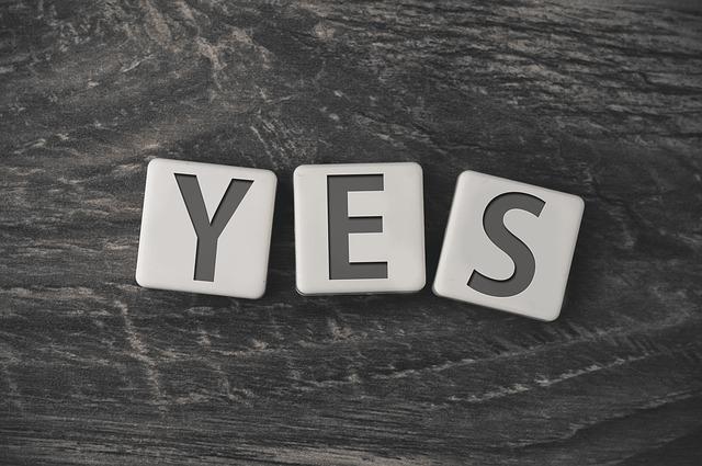 yesの文字型