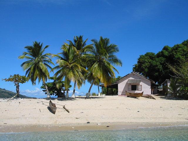 トロピカルな島国の家
