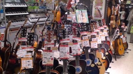 島村楽器で売っているギターたち