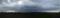 荒川の河川敷からの景色 (パノラマ)