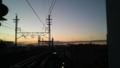 [風景][景色][黄昏][そら]暖かい黄昏の空(吉川駅にて)