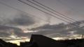 [風景][夕日][そら]雲が多い夕方の空