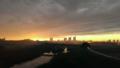 [風景][景色][夕日][そら]黄金に輝く西の空