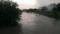 大雨で増水した元荒川