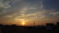 [風景][夕日]西へと沈む夕陽