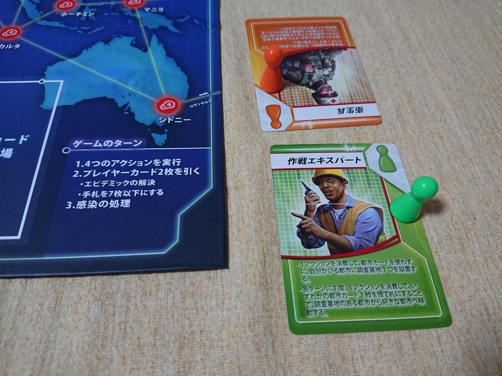 パンデミック 役割カード