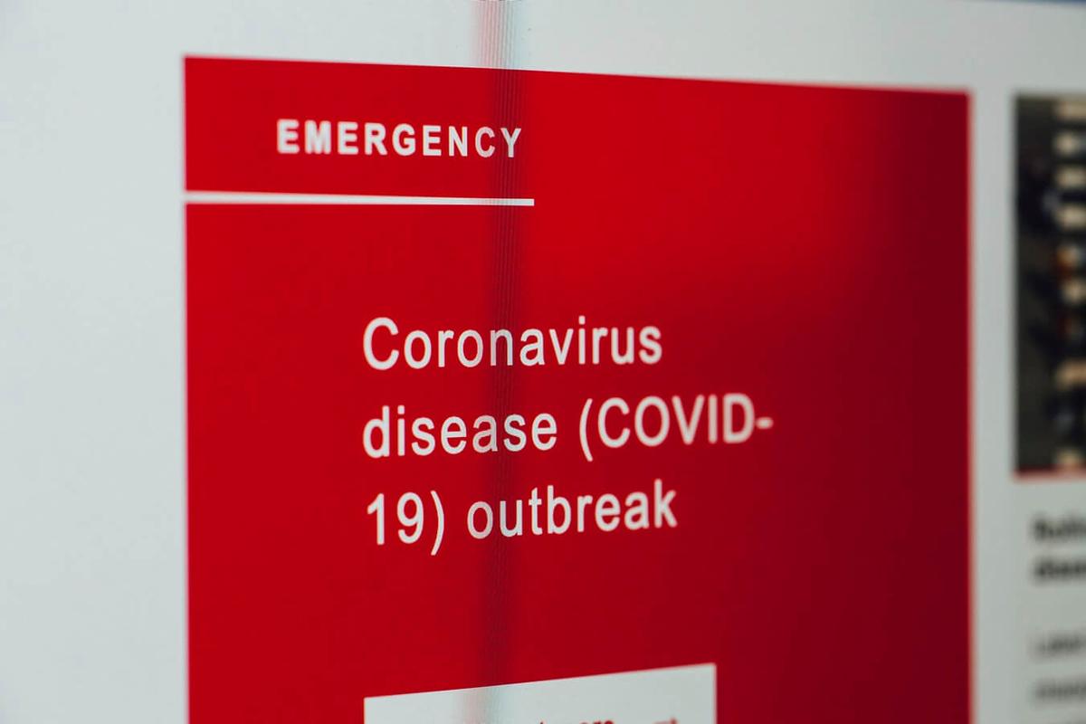 コロナウイルスの注意喚起