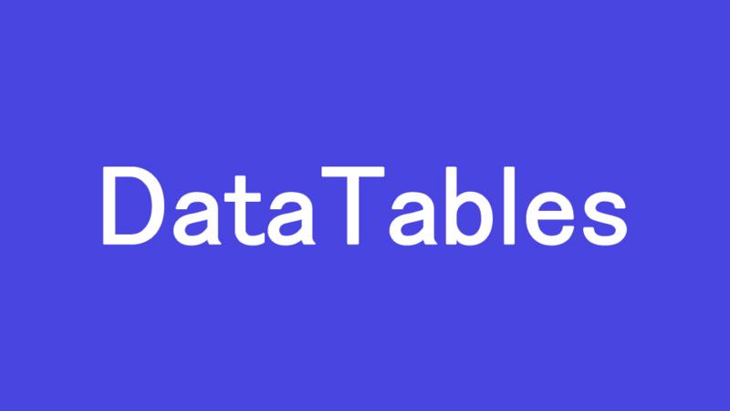 DataTables-数値のソートがうまくいかない問題を解決する