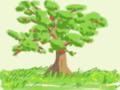 絵心教室で描いたりんごの木←え