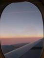 飛行機から夕焼け