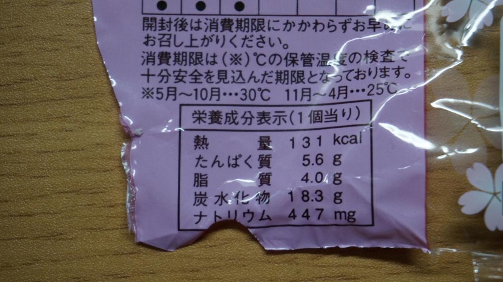 ランチパックれんこん入り鶏つくね 栄養成分表示