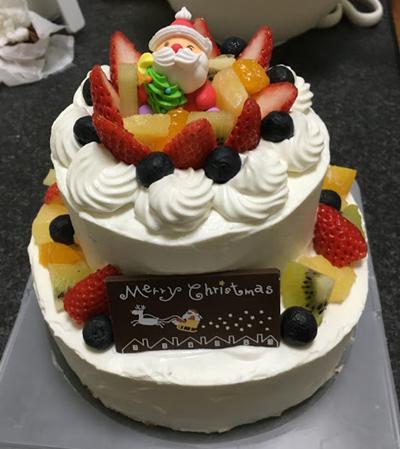 手作りクリスマスケーキがこれだ