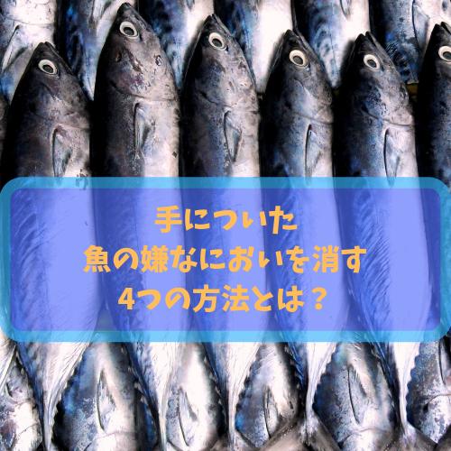魚ににおいがする様子