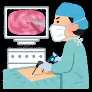 胸腔鏡手術の図