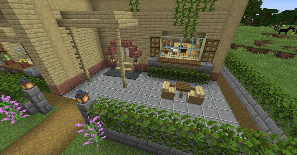 玄関とお庭