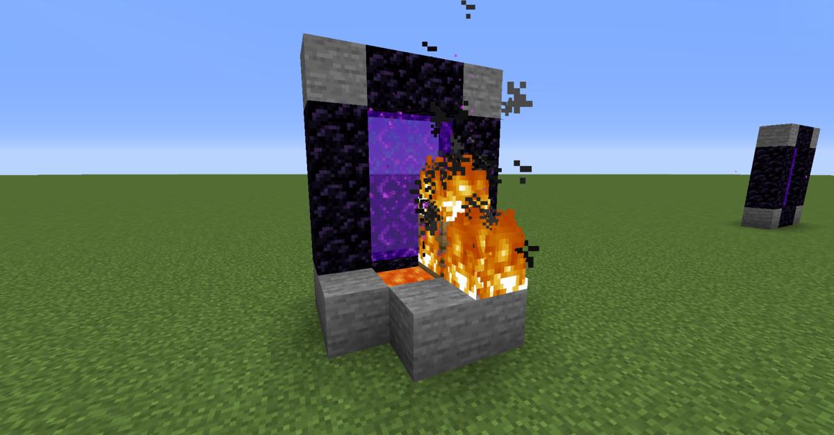 炎が延焼してゲートが生成された画像
