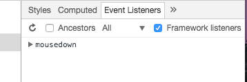 event listener tab