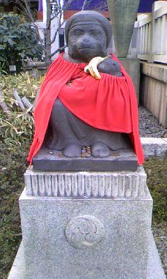 日枝神社 神猿像 メス