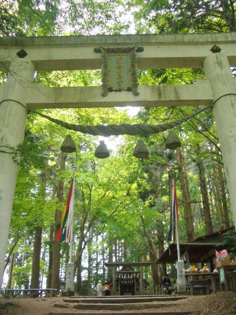 宝登山神社 奥宮の鳥居