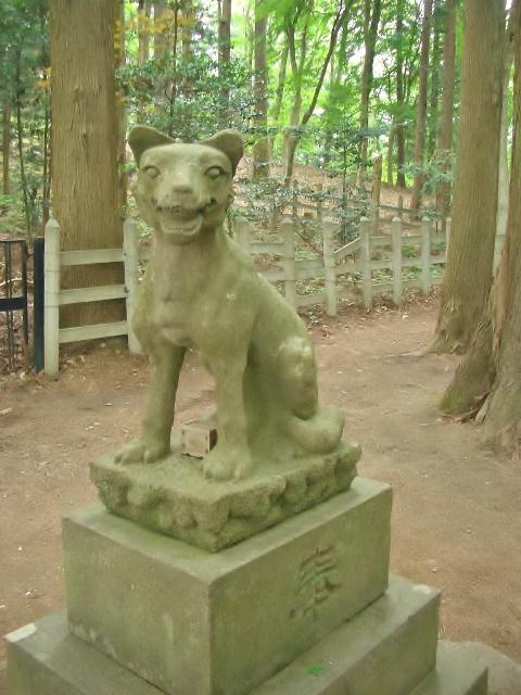 宝登山神社 奥宮の狛犬