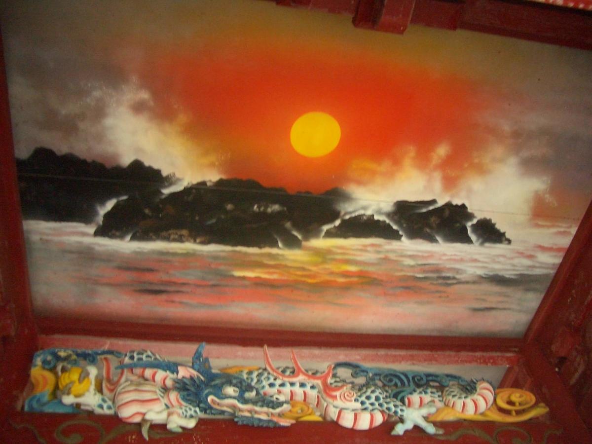 御岩神社 日天月天図
