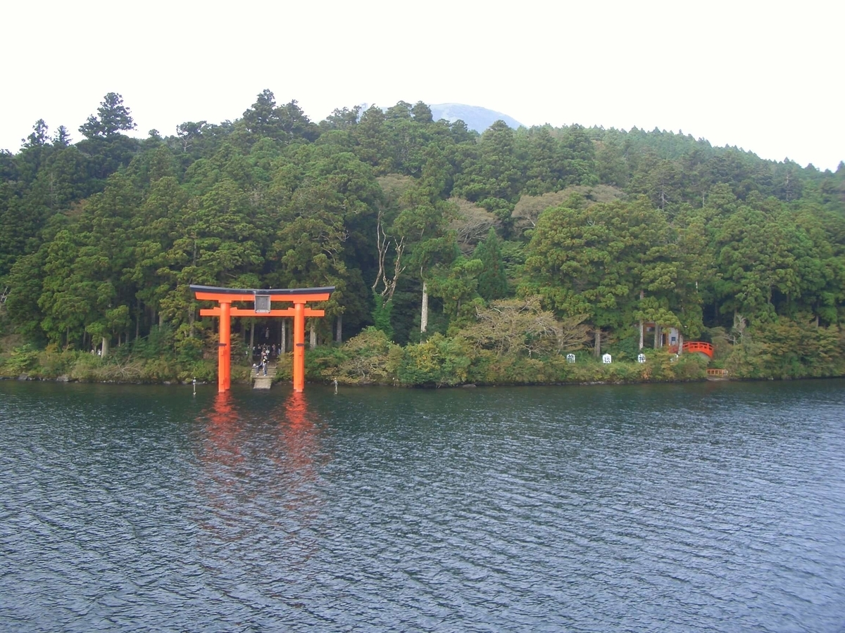 箱根神社 鳥居 芦ノ湖