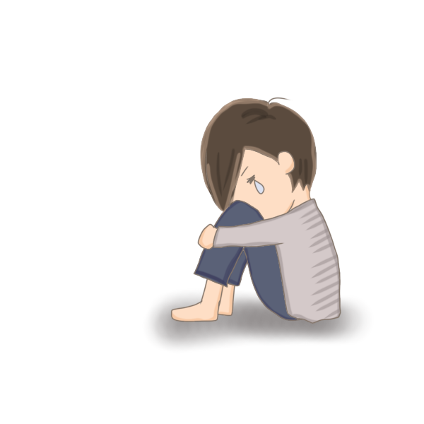 泣いている子供のイラスト