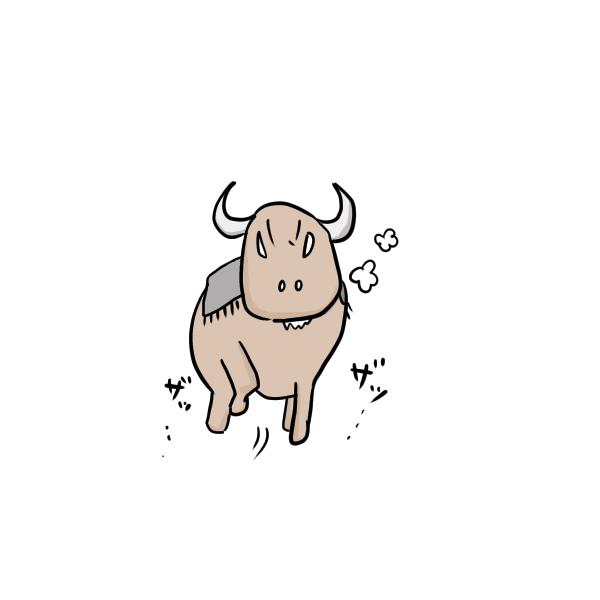闘牛のイラスト