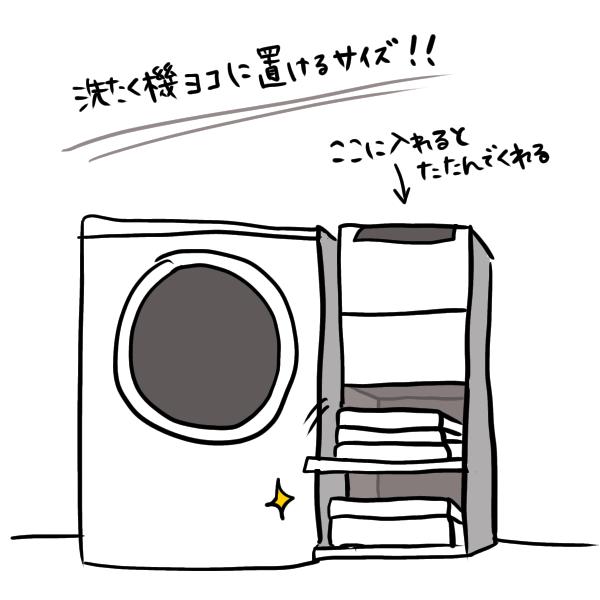 洗濯物たたみ機のイラスト