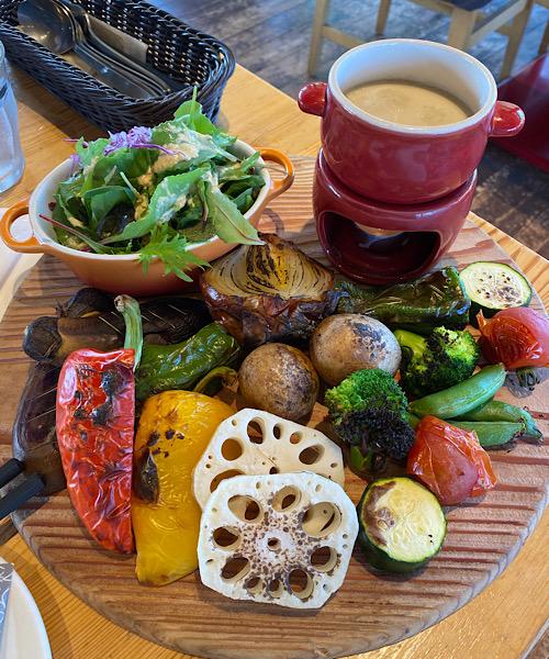 カフェの野菜たち