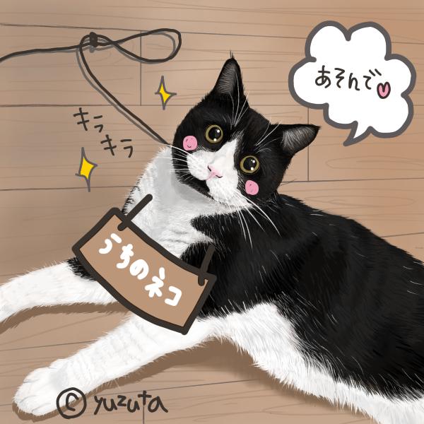 うちの猫さんのイラスト