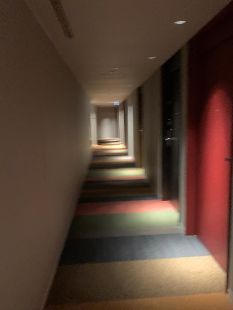部屋への道