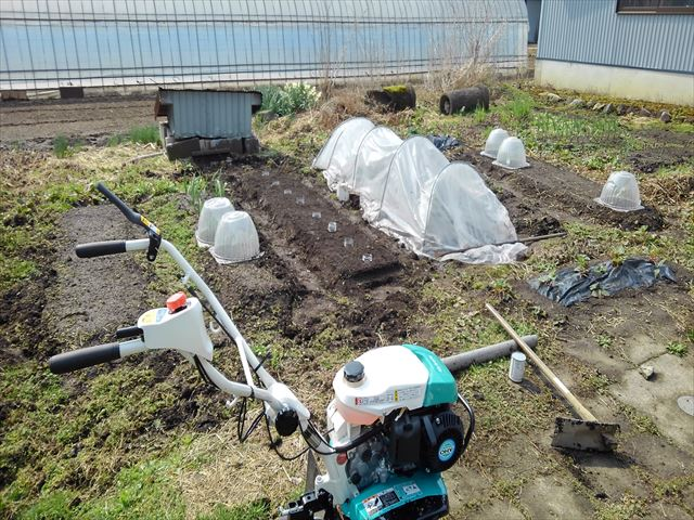 家の庭畝立て後の写真