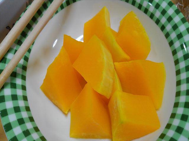 バターナッツをレンジでチン
