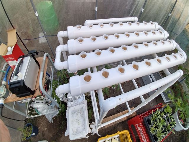 水耕栽培装置のリセット