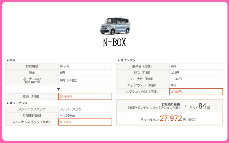 N-BOX(見積もり例)