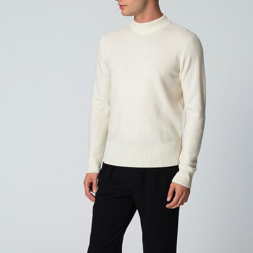 ユニクロ MEN メリノブレンドモックネックセーター(長袖)+E