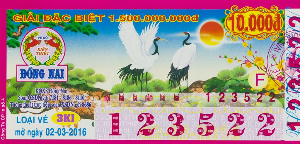 2016-03-02 ドンナイ省の宝くじ 鶴