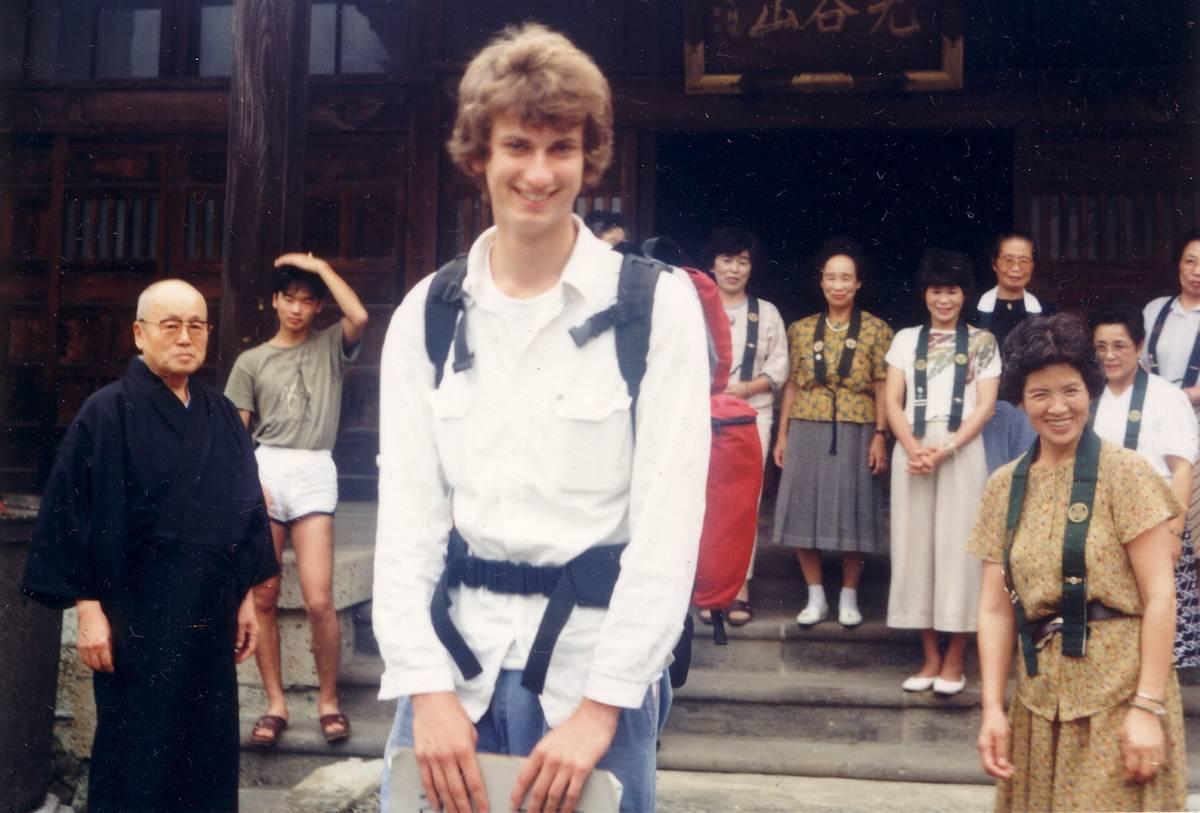19歳の頃。大学に入る前、宇都宮のお寺で