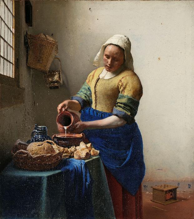 ヨハネス・フェルメール『牛乳を注ぐ女』