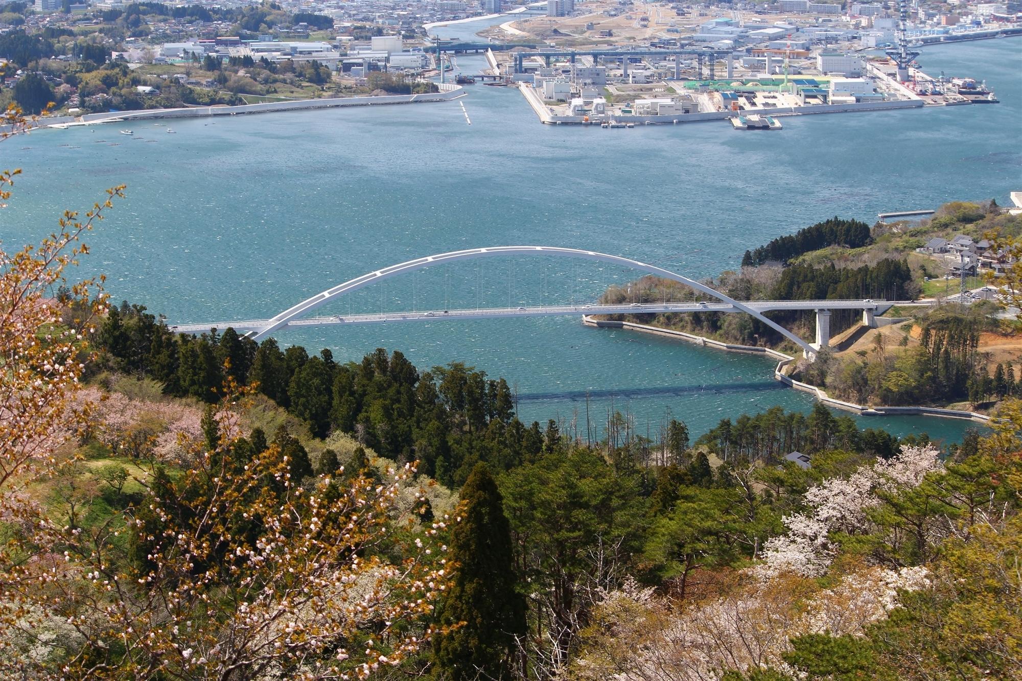 大島大橋 亀山山頂から