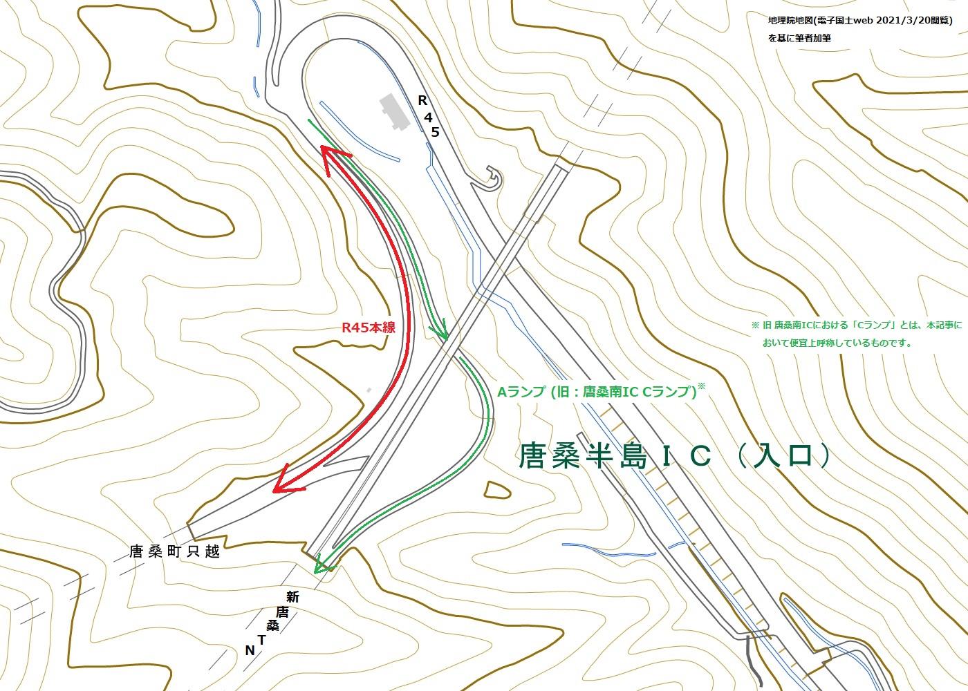 唐桑半島IC 地図