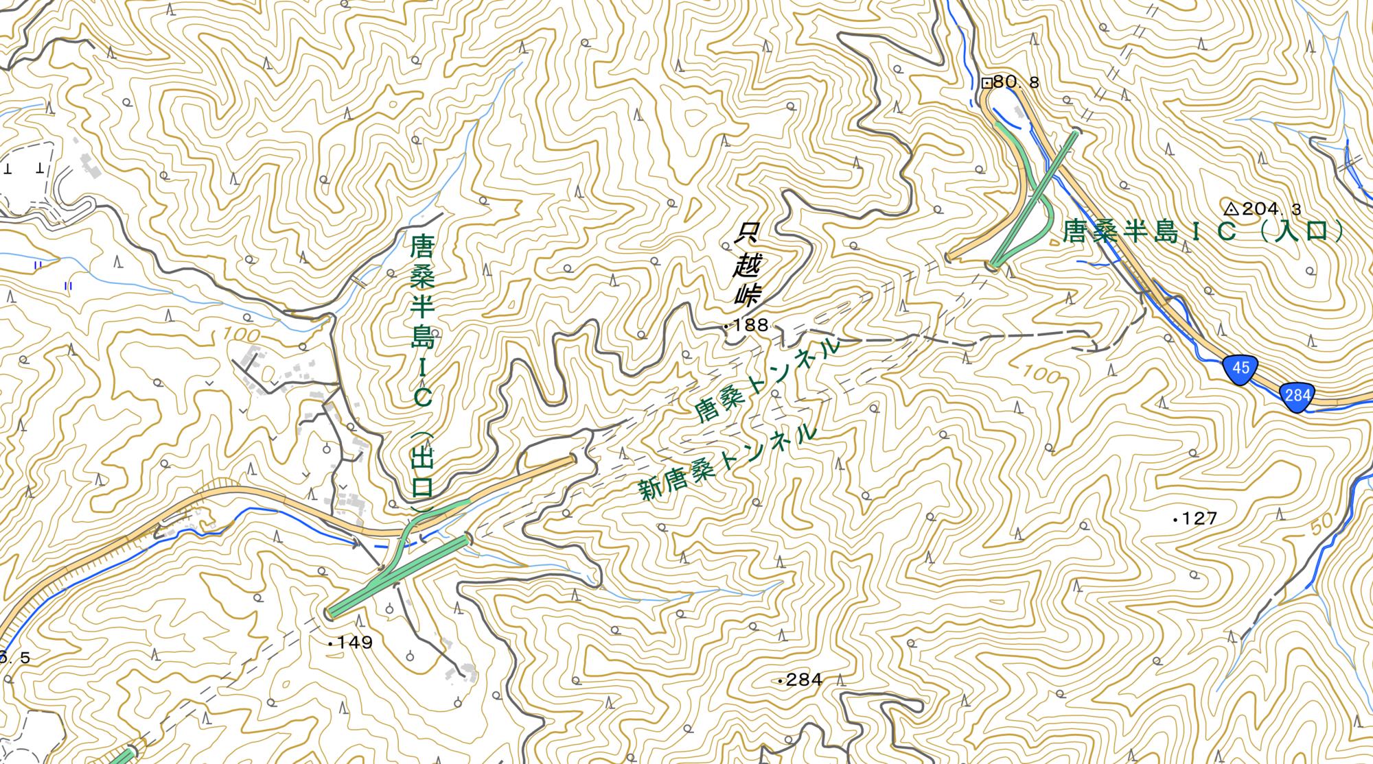 唐桑半島IC 全景地図