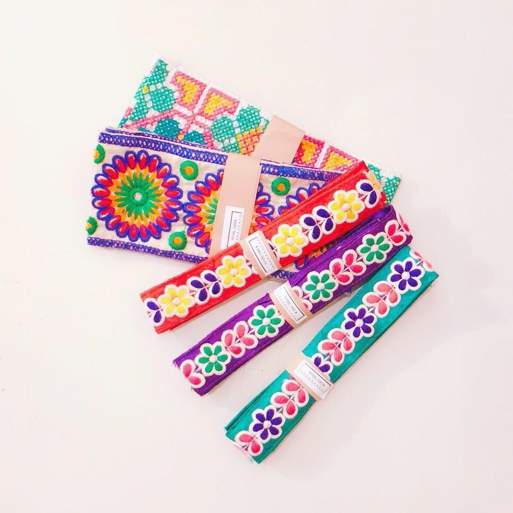 インドの刺繍ブレード