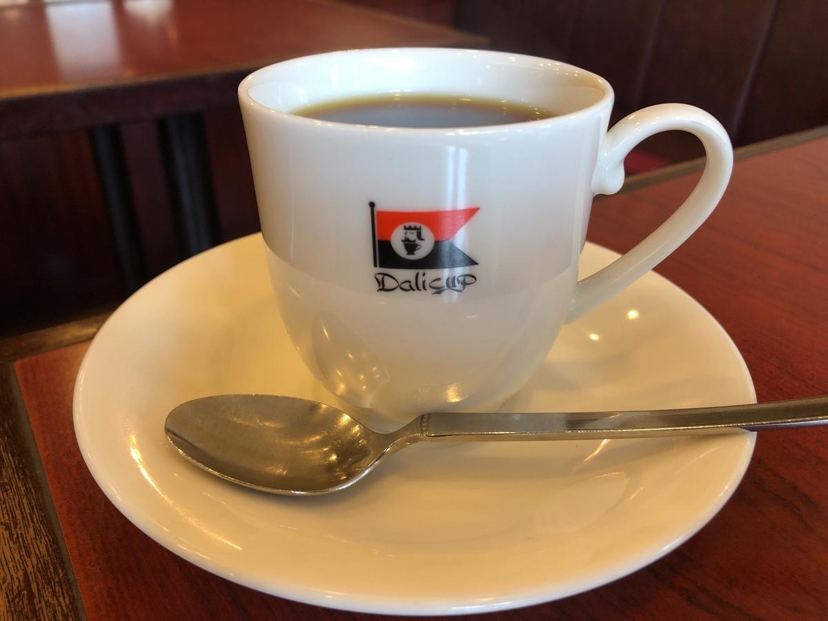 たぶんコーヒー。それもアメリカン。ブレンドかな? デリカップです。